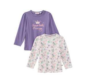 Baby-Mädchen-Shirt, 2er Pack