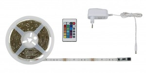DI-KA LED Flexband RGB ,  5 m, 150 x RGB LED, weiß, mit Farbwechselfunktion