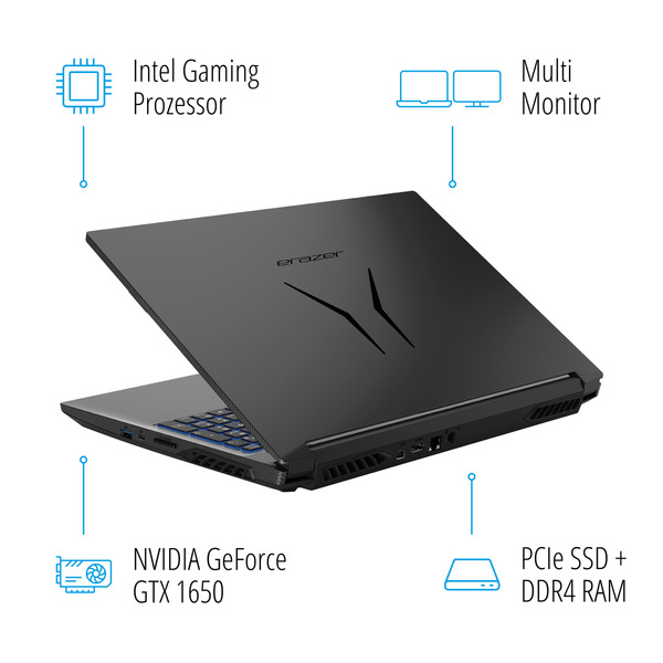 "MEDION ERAZER® P15603, Intel® Core™ i5-9300H, Windows10Home, 39,6 cm (15,6"") FHD Display, GTX 1650, 256 GB SSD, 1 TB HDD, 16 GB RAM, Core Gaming Notebook"