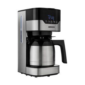 MEDION Kaffeemaschine mit Thermokanne MD 18458, Timer-Funktion, Tropf-Stopp, 900 Watt, 1,2 Liter Fassungsvermögen, Aromawahlschalter