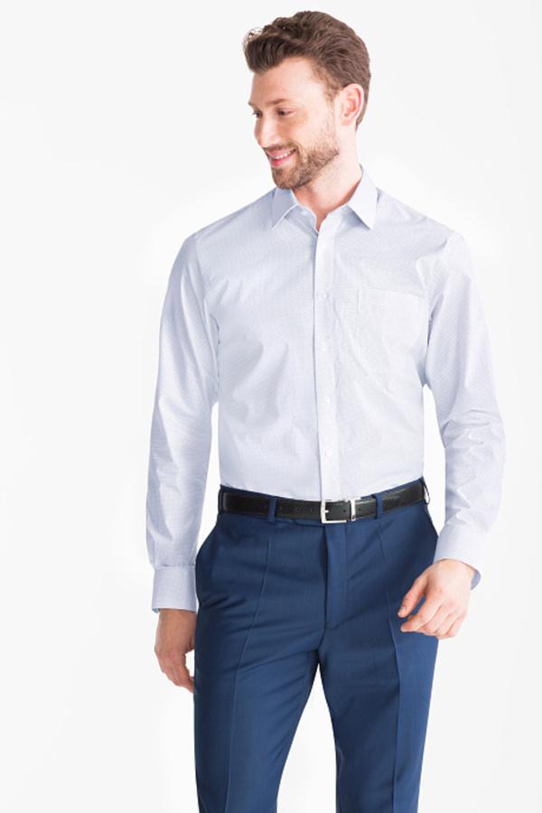 Businesshemd - Regular Fit - Kent - gepunktet