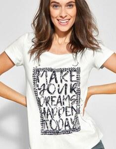 CECIL - T-Shirt mit Wording Print