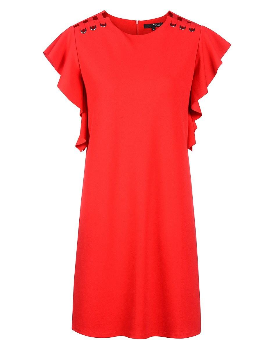 Bild 1 von My Own - Kleid mit Capeärmeln und Ösen mit Schnürung
