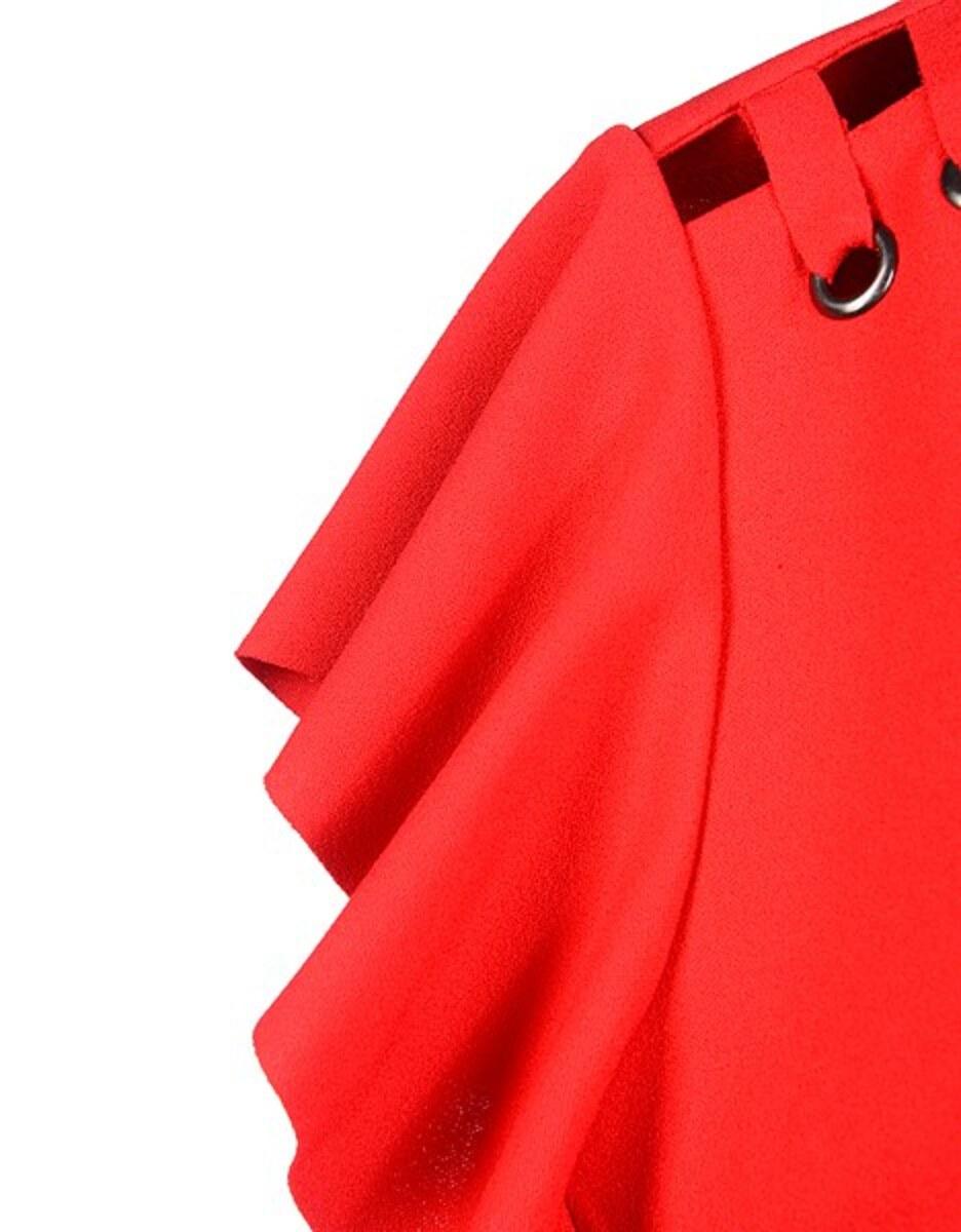Bild 4 von My Own - Kleid mit Capeärmeln und Ösen mit Schnürung