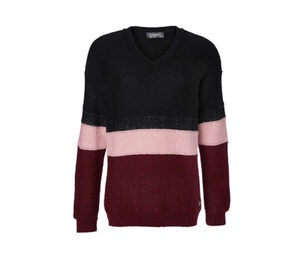 Strickpullover im Colorblocking-Dessin