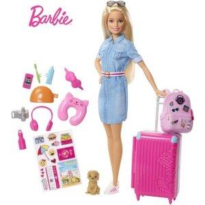 Barbie Reise Puppe blond Zubehör