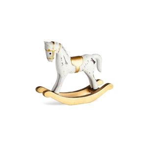 Dekofigur Schaukelpferd, L:13cm x H:12cm, gold