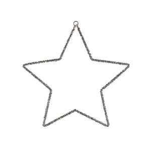 Lichtobjekt Stern, 30LED, D:30cm, Batterien, silber