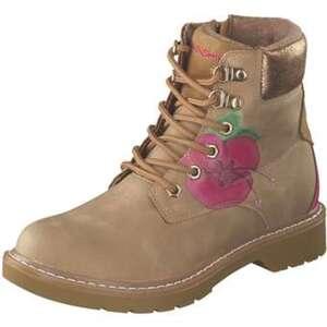 Sunshine Flower Schnür Boots Damen beige
