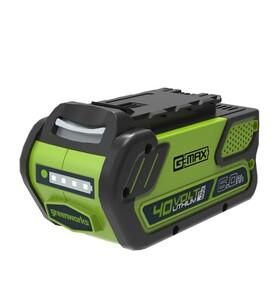 Greenworks 40 V Li-Ion Akku | 6 Ah, LED-Ladestandsanzeige, Gartengeräte und Werkzeuge