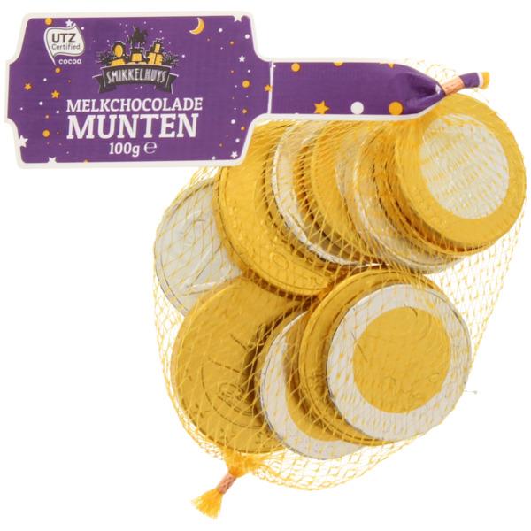 Smikkelhuys Milchschokolade Münzen