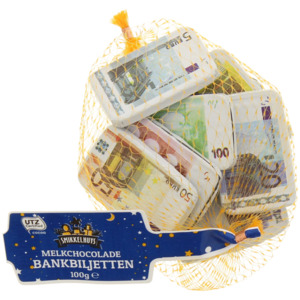 Smikkelhuys Banknoten Milchschokolade