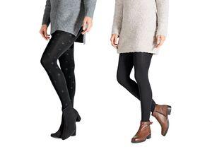 ESMARA® 2 Damen Thermostrumpfhosen / Leggings