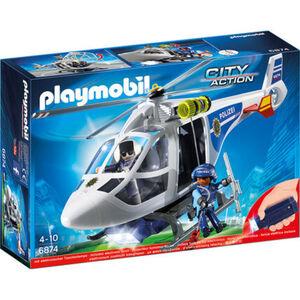 PLAYMOBIL® City Action - Polizei-Helikopter mit LED-Suchscheinwerfer 6874