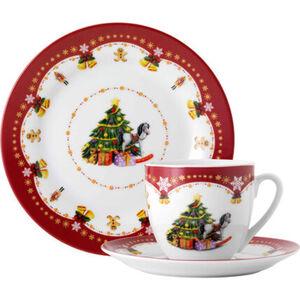 Van Well Porzellan Kaffee-Set Weihnachtszauber, 18-teilig