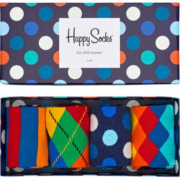 Happy Socks Socken im 4er-Set, mit Geschenkbox, mehrfarbig, 36-40, mehrfrarbig, 36-40