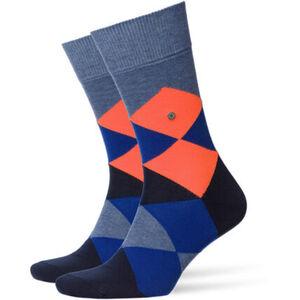 "Burlington Socken ""Neon Clyde"", Baumwoll-Anteil, Argyle-Look"