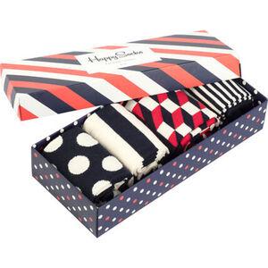 Happy Socks Socken im 4er-Set, mit Geschenkbox, navy/rot, 36-40, 36-40