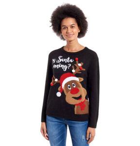 manguun Damen Weihnachtspullover