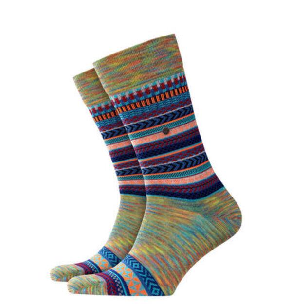 "Burlington Socken ""The X-Fair Isle"", Multicolor-Garn, Schurwolle, 6576 lupin, 40-46"