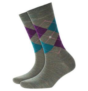 Burlington Socken, Argyle-Muster, Melange-Effekt