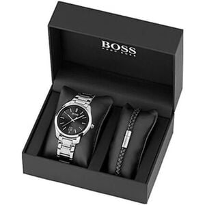 "BOSS Watches Herrenuhr und Armband ""1570084"", silber"