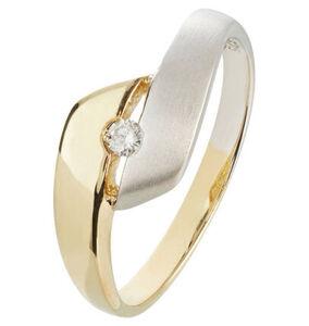 Vandenberg Damen Ring, 375er Gelbgold mit Diamant, 54, bicolor