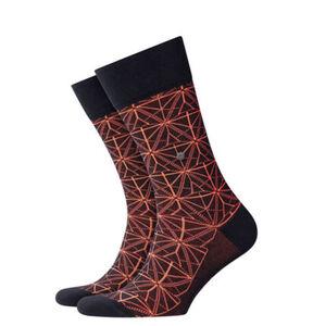 """Burlington Socken """"Eerie Glow"""", geometrisches Muster, 3000 black, 40-46"""