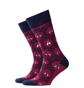 """Burlington Socken """"The Fly Baroque"""", Barockmuster, 8236 redpl, 40-46"""