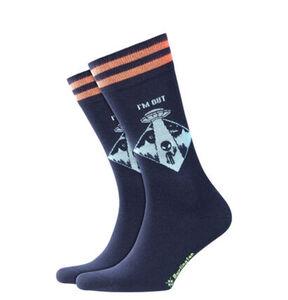 """Burlington Socken """"Alien Peace Out"""", Skater-Stil"""