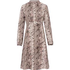 manguun collection Damen Blusenkleid mit Schlangenmuster