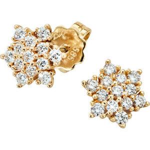Vandenberg Damen Ohrstecker, 585er Gelbgold mit Diamanten