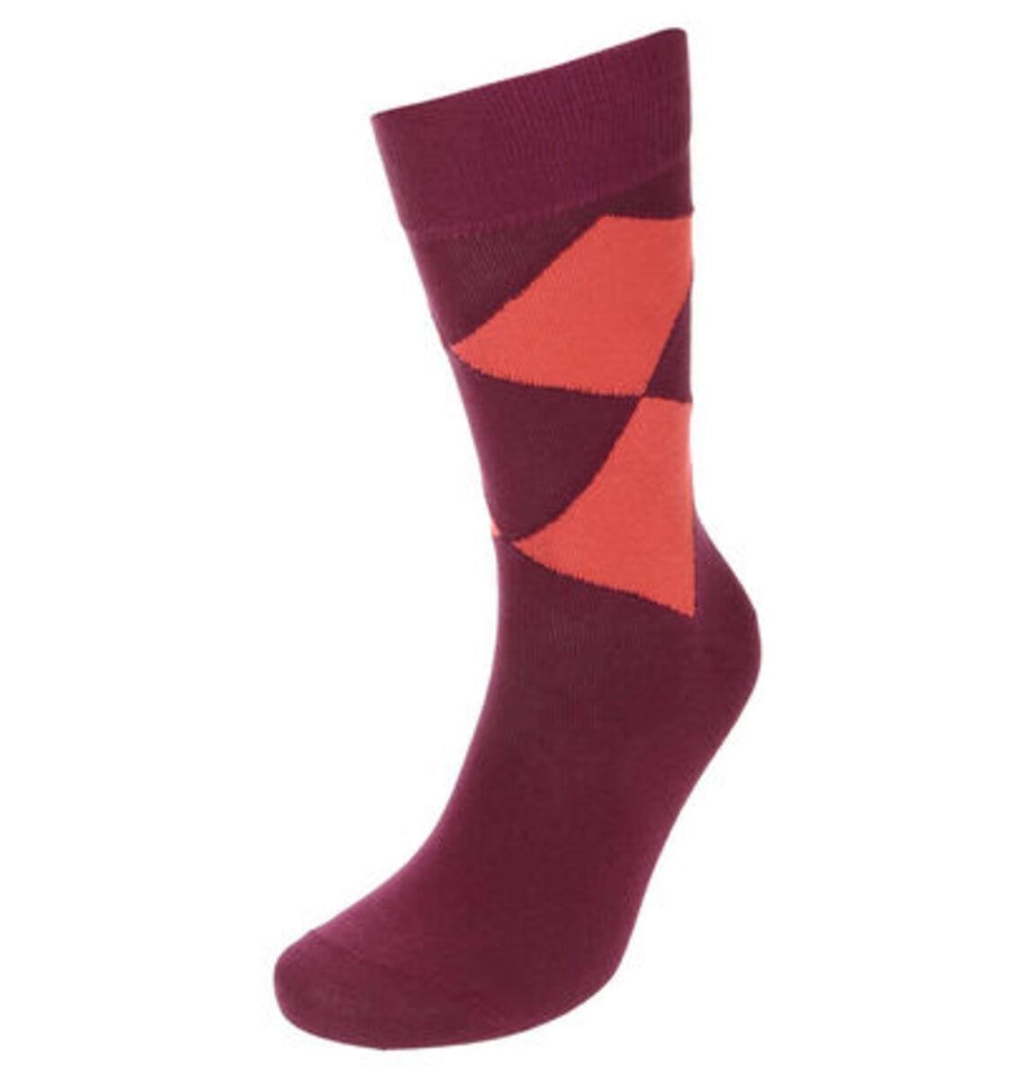 """Bild 1 von Burlington Socken """"Smiley Argyle"""", Rippbündchen"""