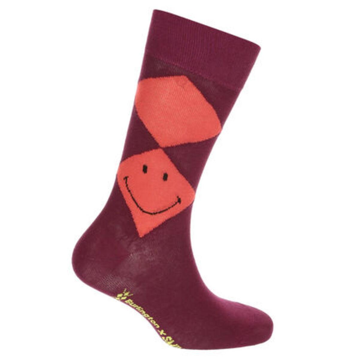 """Bild 2 von Burlington Socken """"Smiley Argyle"""", Rippbündchen"""