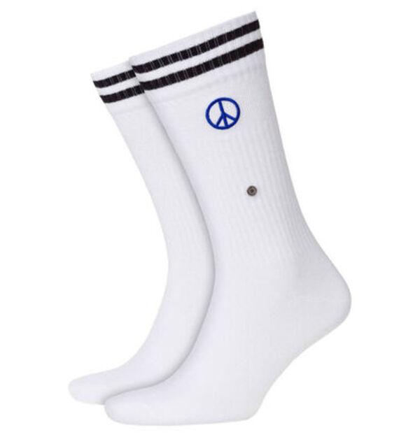 "Burlington Socken ""Peace Man"", Streifenbündchen"