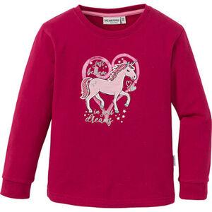 Salt & Pepper Mädchen Sweatshirt mit Einhorn-Aufnäher und Glitzerprint
