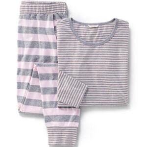 Esprit Damen Pyjama, geringelt