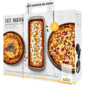 Birkmann Backformen-Set Easy Baking, 3-tlg.