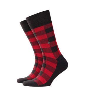 "Burlington Socken ""Shining"", Materialmischung, Karomuster, 3000 black, 40-46"