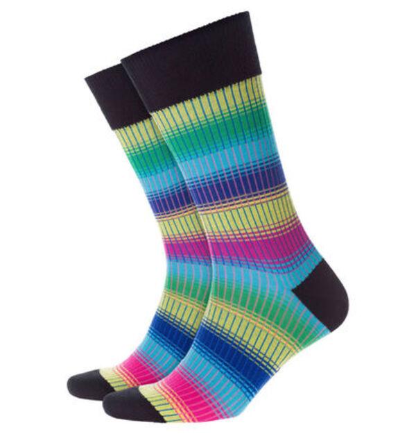 "Burlington Socken ""Rainbow Stripe"", Feinstrick"