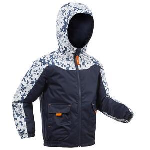 Winterjacke Winterwandern SH100 Warm Kleinkinder Jungen 89–121cm marineblau