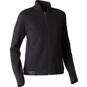 Trainingsjacke 520 Spacer Pilates sanfte Gymnastik Damen schwarz