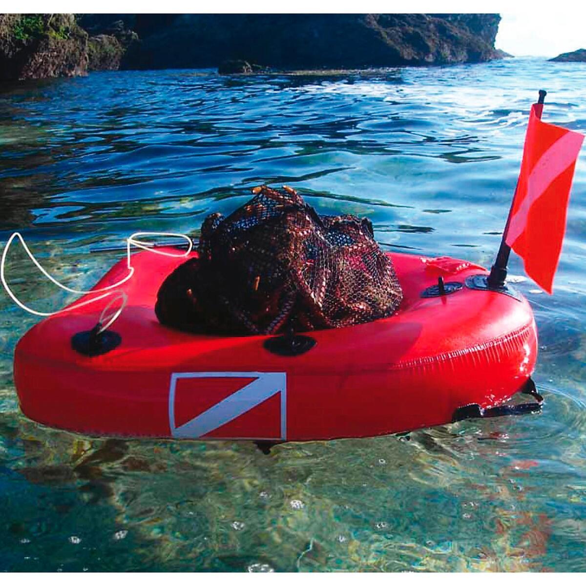 Bild 2 von Aufblasbare Boje Board mit integriertem Netzsack Dive Net