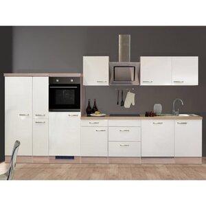 Flex-Well Exclusiv Küchenzeile Valero 360 cm Hochglanz Weiß