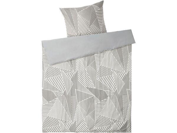 MERADISO® Satin Bettwäsche, 155x220 cm, zum Wenden, mit