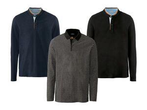 LIVERGY® Herren Poloshirt langarm