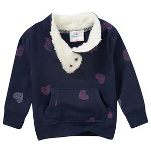 Baby Sweatshirt mit Plüschkragen