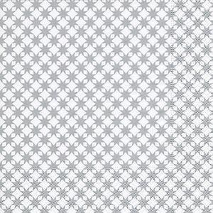 20 Servietten - Sterne - 33 x 33 cm - silber