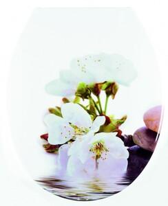badkomfort hochwertiger WC-Sitz, Kirschblüte