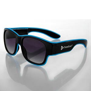 TrendGeek LED Partybrille, kabellos - Schwarz-Eisblau